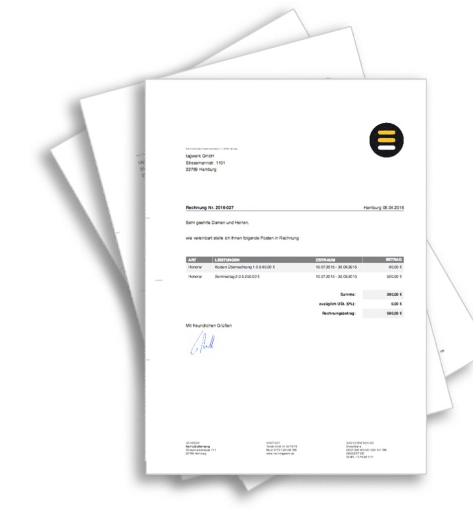 Rechnung online, meintagwerk, buchhaltungssoftware, Buchhaltung online